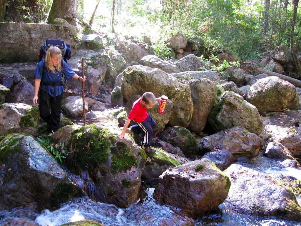 Tricky stream crossing