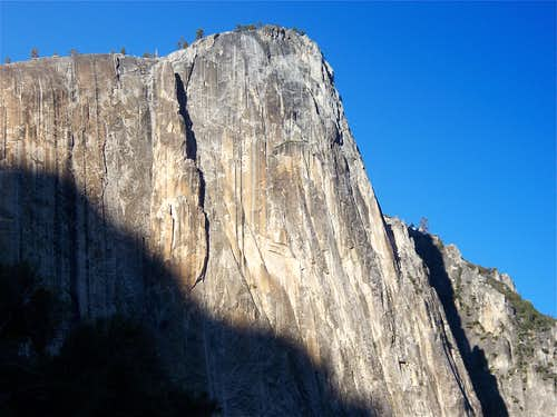 Last Rays of Sun on Yosemite Point Buttress