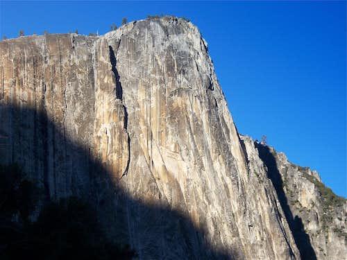 Last Rays of Sun on Yosemite Point Buttress