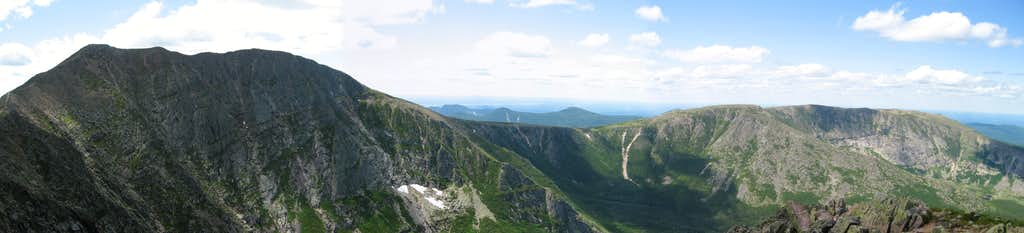 Panorama of Katahdin and Hamlin Peak