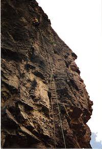 Climbing in Gallatin Canyon