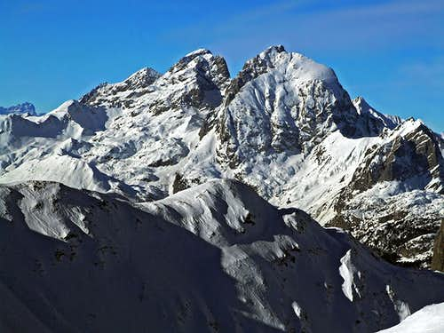 Monte Coglians / Hohe Warte from Monte Dimon