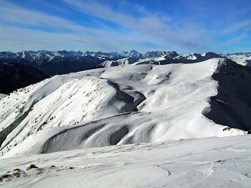 Monte Paularo from Monte Dimon