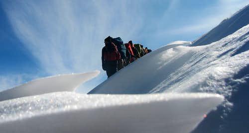 snow & sky & group