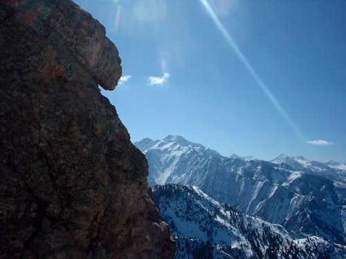 Twin peak as seen from Mt....