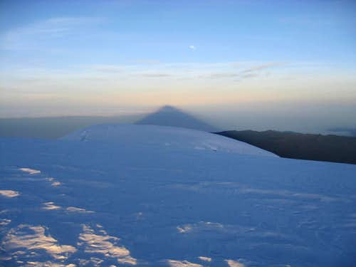 Chimborazo s Shadow from Whymper Summit