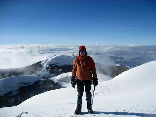 Myself on the Summit of Cotopaxi (19,347 ft.)