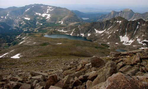 Looking south from Wind River Peak