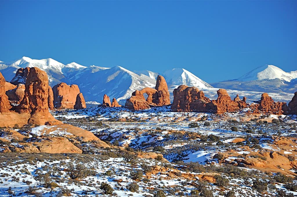 Turret Arch & La Sal Mountains