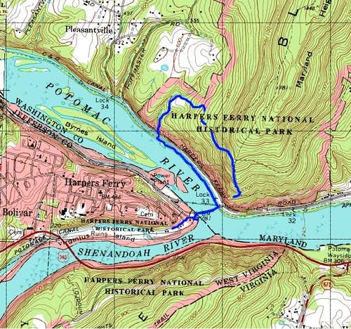 Map of the Harpers Ferry area...