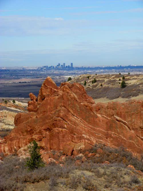 View of Denver from Carpenter Peak Trail