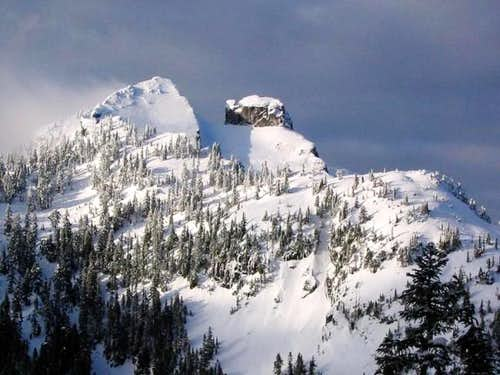 Crown Mountain from the lower...