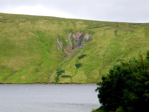 The Claw - Natural Scar along side Megget Reservoir
