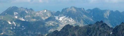 From the top of Kriváň, looking North to Polish High Tatras