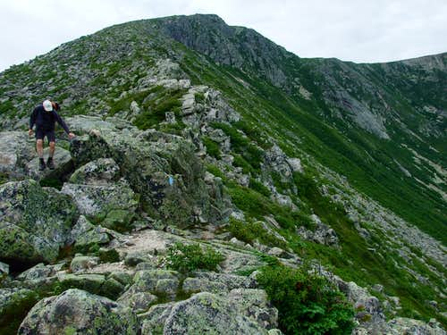 Descending Hamlin Ridge
