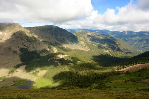 View from the slopes of Wheeler Peak