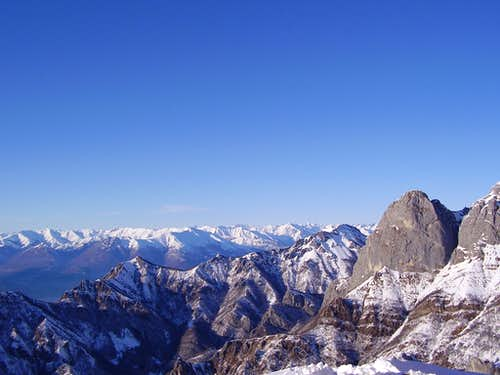 Winter view from Refuge Rosalba