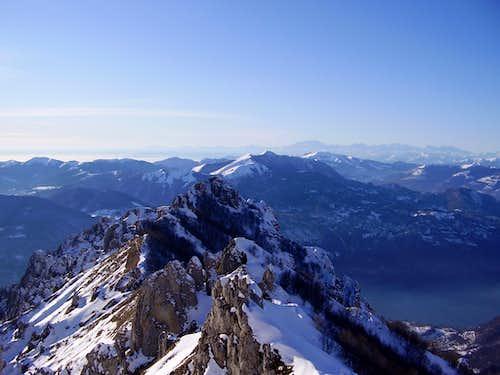 Winter view from Refuge Rosalba (1730m.)
