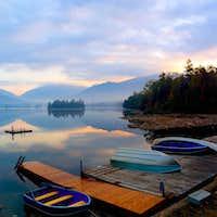Sunrise Elk Lake
