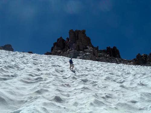 Lamarck Col snowfield