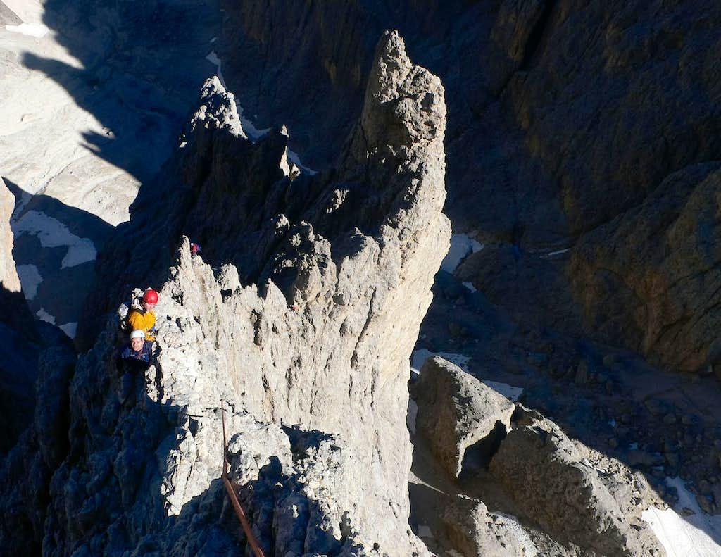 The snaking ridge...