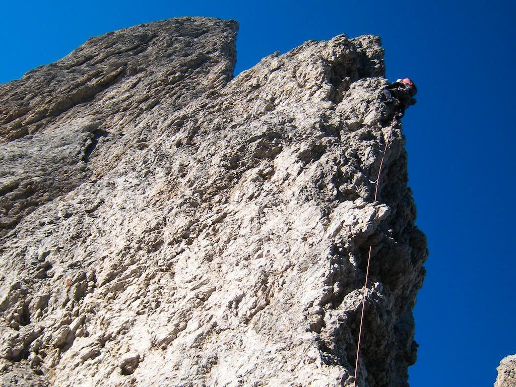 Michael leading on the ridge