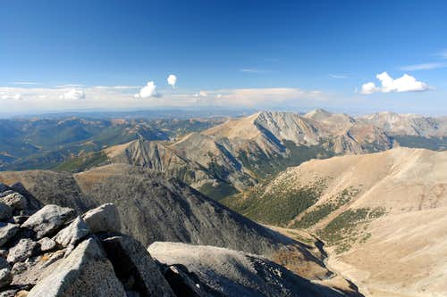 View from summit of Mt. Shavano