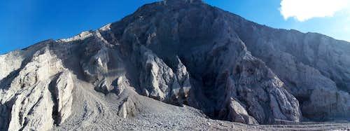 Cuidate - Santa María's SW face panorama