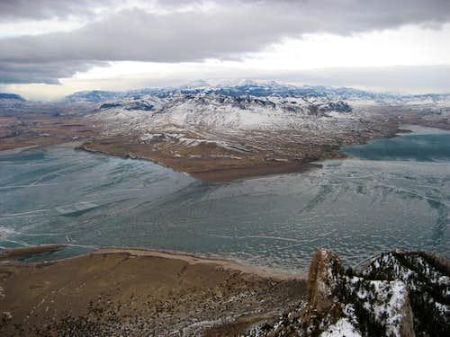 Cedar Mountain summit view west