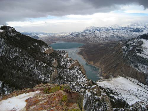 Shoshone Canyon and Buffalo Bill Reservoir