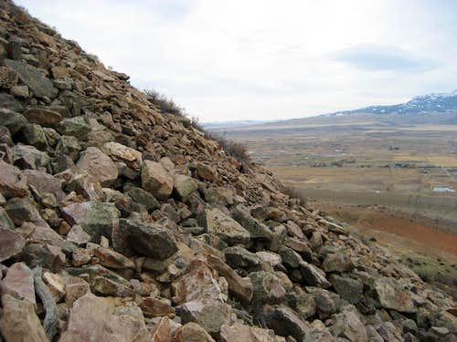 Rock gully on Cedar Mountain