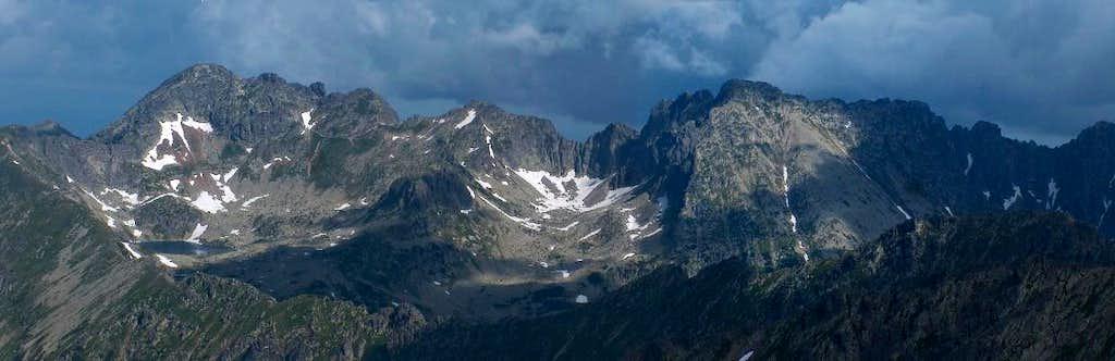 From the top of Štrbský Štít, looking north to the Polish High Tatras