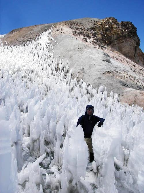Penitentes On the Summit Ridge