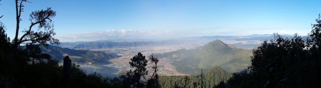 Cerro Quemado as viewed from Santa María