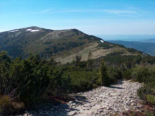Going down Babia Góra on the western ridge, towards Mała Babia Góra
