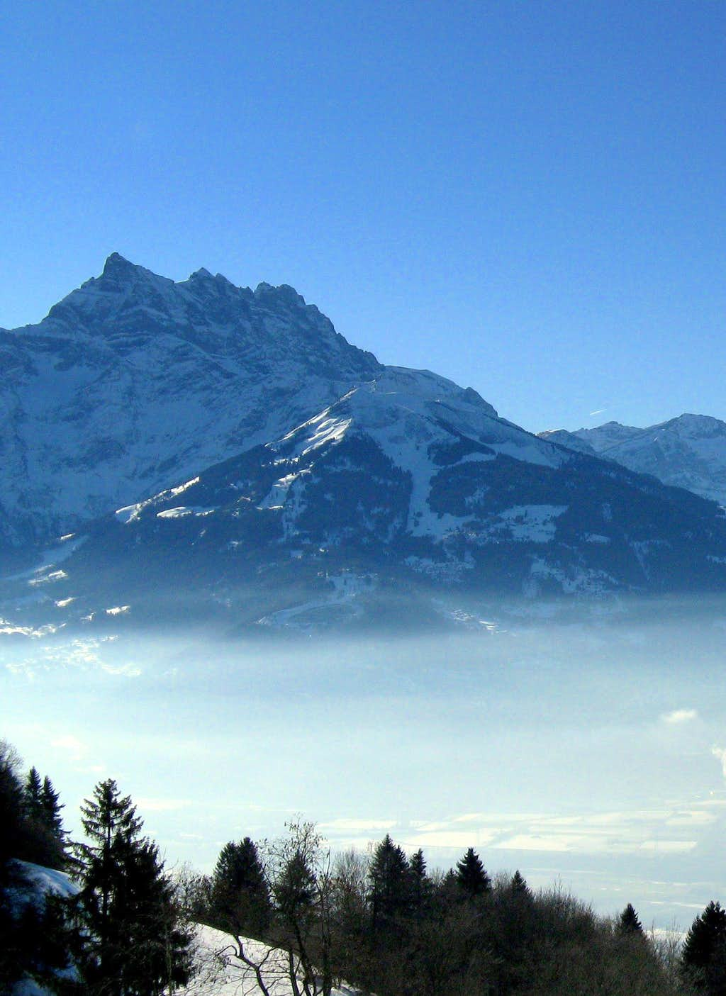Cloud carpet beneath Dents du Midi