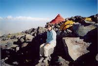 Camp at 4800 m (Aguada Blanca...