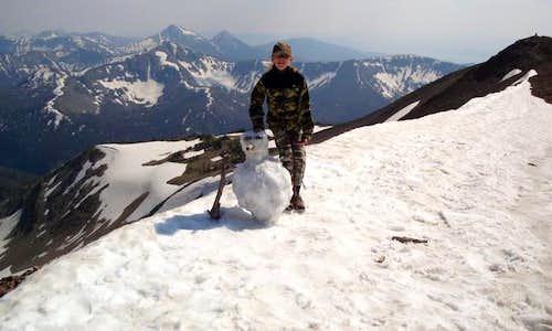 Snowman on the Peak