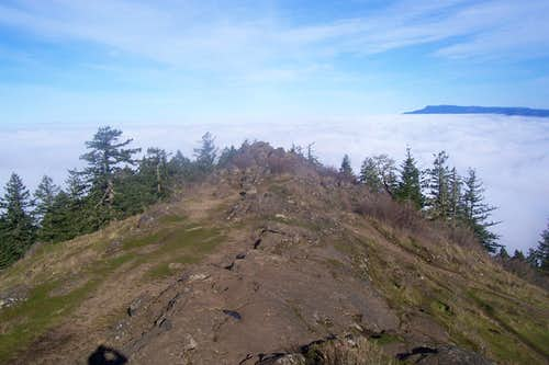 Summit ridge/Spencers Butte.