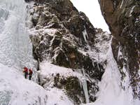 Grafarfoss. At the end of the rappel
