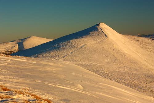On windy polonynas - Winter in Bieszczady mountains
