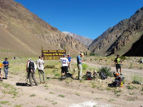 Entering the Vacas Valley