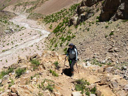 Aneta on the Trail