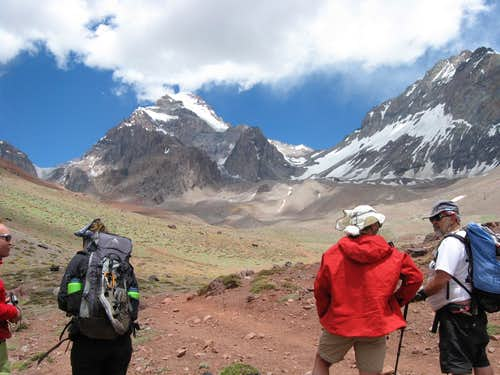 Stefan, Aneta , Ron and Big Mike in Front of Aconcagua