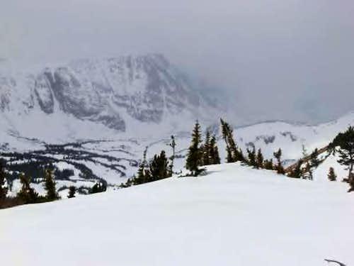On the ridge in winter