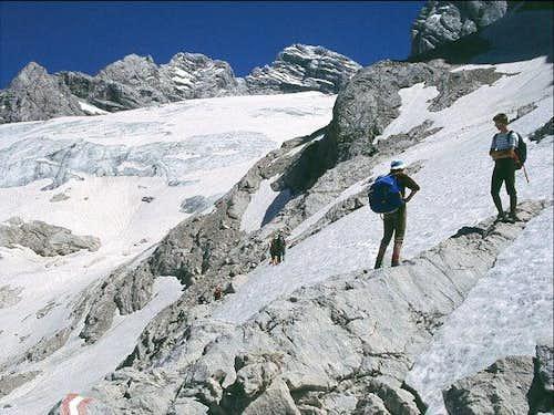 Gosau glacier and the summit...
