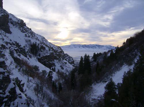 Decending Battlecreek Canyon after visiting Big Baldy