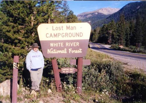 At the Lost Man campground...