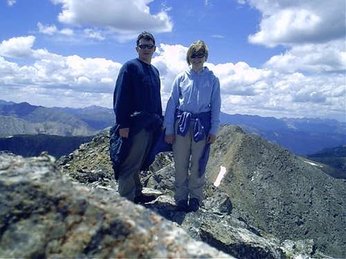 On the summit, the Elks Range...