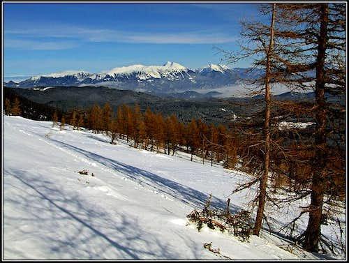 Below the E ridge of Visevnik